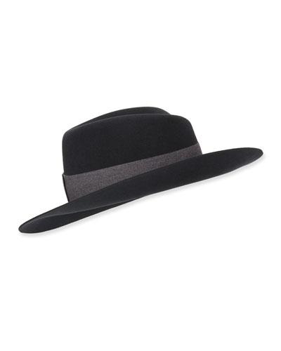 Virginie Rabbit Felt Fedora Hat
