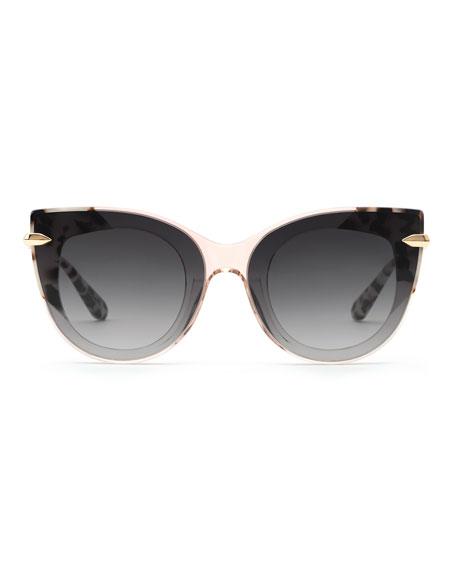 KREWE Laveau Nylon Cat-Eye Sunglasses