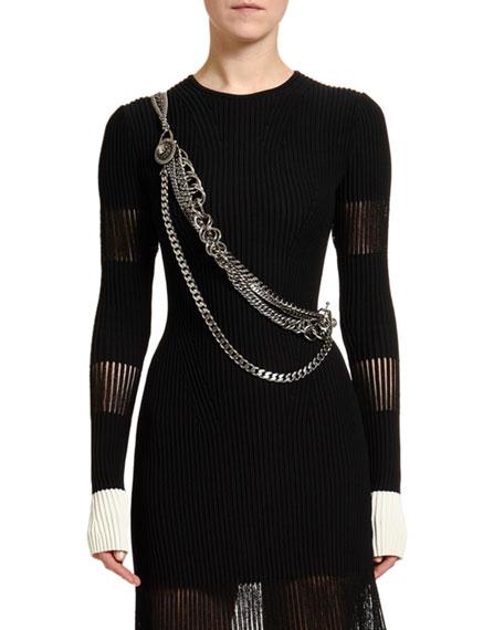 Alexander McQueen Crossbody Chain Harness