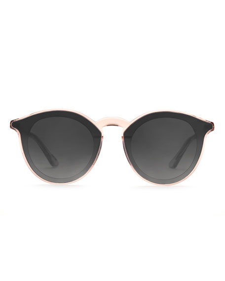 KREWE Collins Nylon Round Gradient Sunglasses