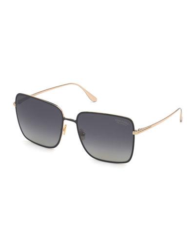 Heather Square Metal Sunglasses