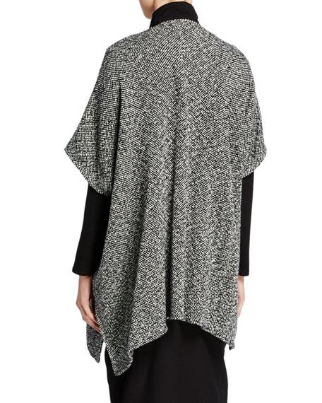 Eileen Fisher Hand Woven Organic Cotton Poncho