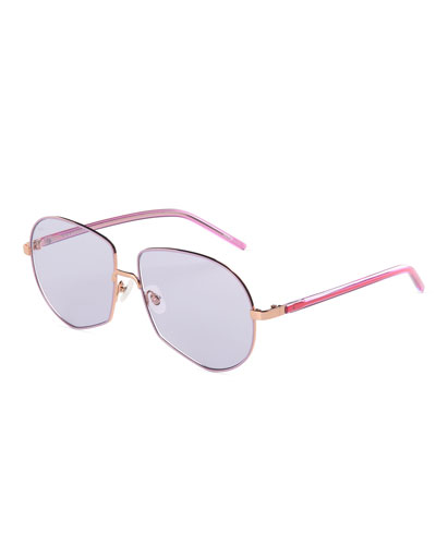 Round Stainless Steel Sunglasses