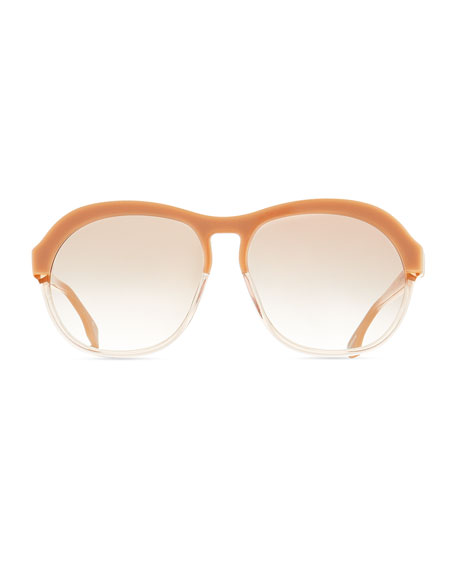 Image 3 of 3: Le Specs Burnout Two-Tone Aviator Sunglasses