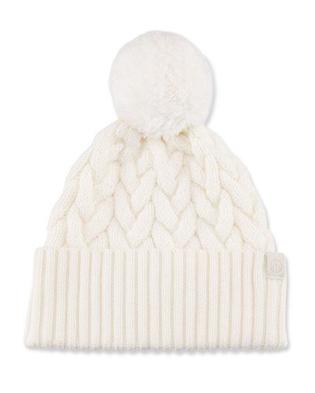 Rag & Bone Aran Pompom Beanie Hat