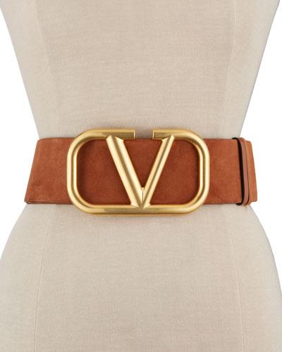 VLOGO 70mm Wide Lamb Leather Belt