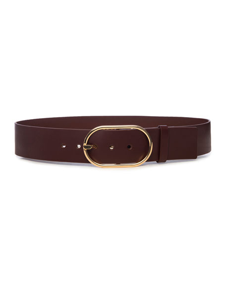 FRAME Grand Oval Buckle Leather Belt