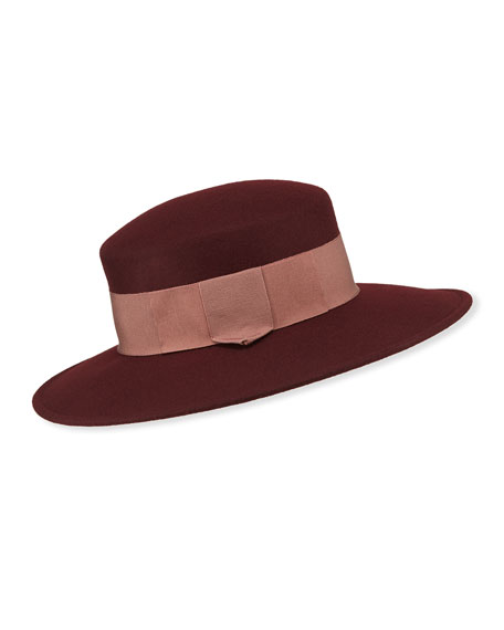 Marzi Spagnolia Wide Brim Lamb Wool Hat