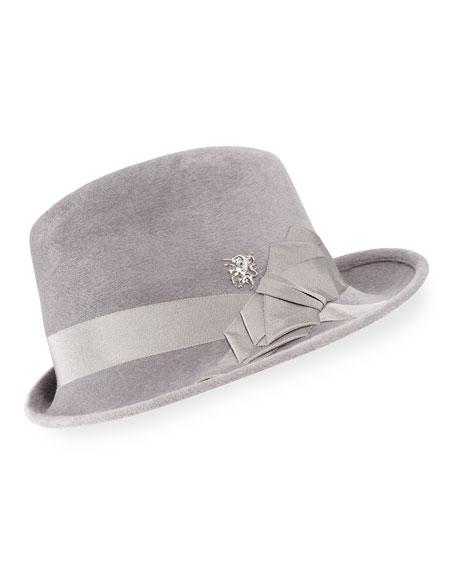 Philip Treacy Side Sweep Wool Felt Fedora Hat