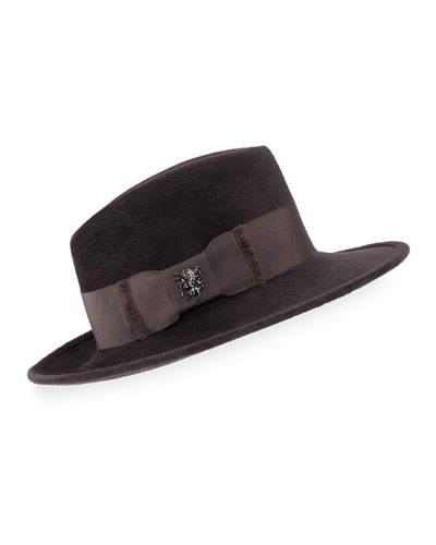 Velour Raider Trilby Hat