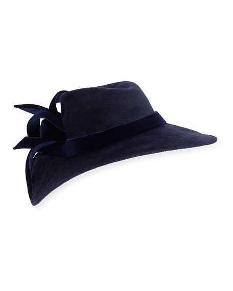 Philip Treacy Velour Structured Wave Hat