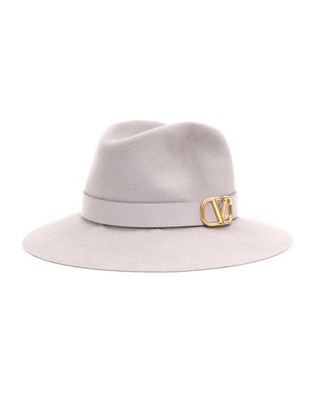 Valentino VLOGO Felt Fedora Hat