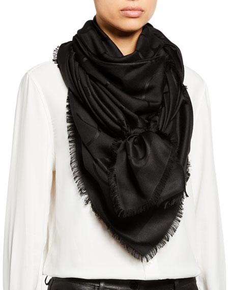 Valentino VLOGO Silk-Wool Shawl