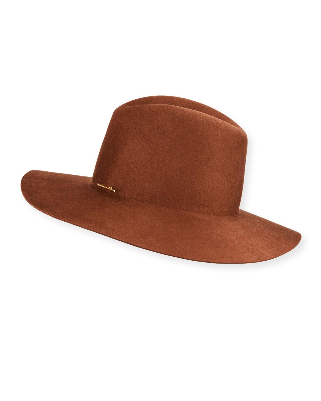 Caden Wool Fedora Hat W/ Logo Pin by Janessa Leone