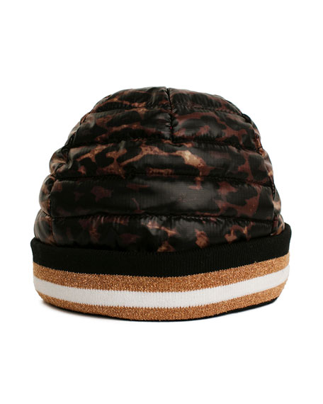 Think Royln Downtown Crown Quilted Beanie Hat
