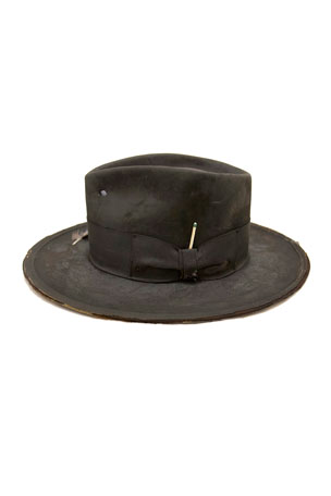 Nick Fouquet The North End Distressed Beaver Felt Fedora Hat