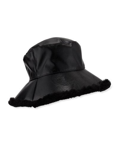 Billie Faux Leather Bucket Hat