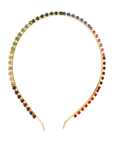 Epona Valley Skinny Prism Swarovski Crystal Headband