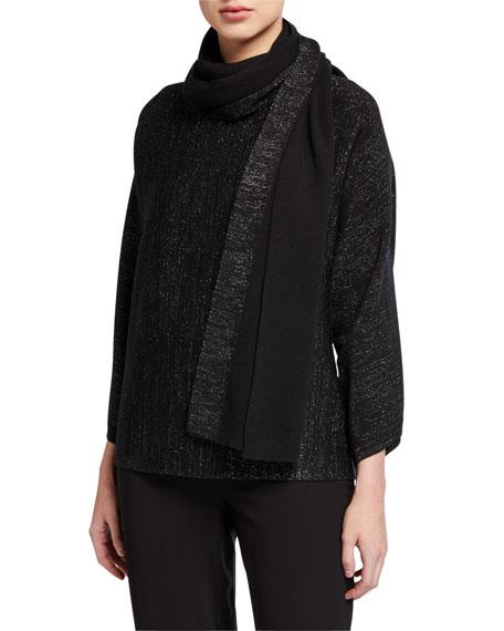 Eileen Fisher Sparkle Extra Fine Merino Wool Scarf