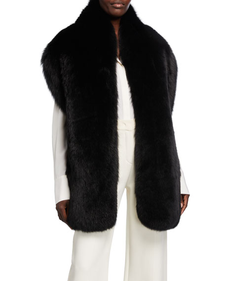 Loro Piana Fox Fur Shawl