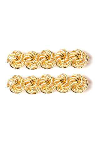 Dannijo Mira Chain Barrettes, Set of 2