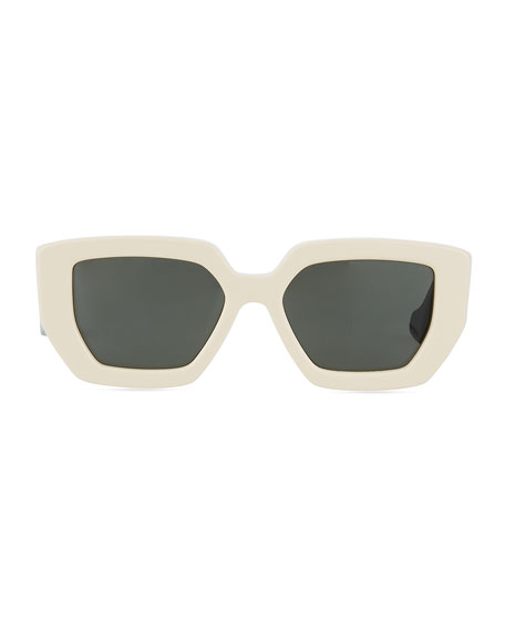 Gucci Two-Tone Acetate Oversized Cat-Eye Sunglasses