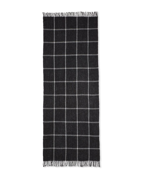 Eileen Fisher Windowpane Wool/Cashmere Scarf