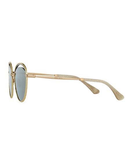 Jimmy Choo Malyas Round Cutout Sunglasses