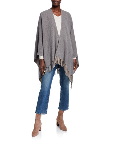 Brushed Wool/Cashmere Wrap