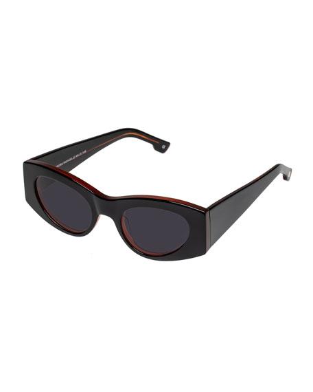 Le Specs Luxe Extempore Cat-Eye Acetate Sunglasses