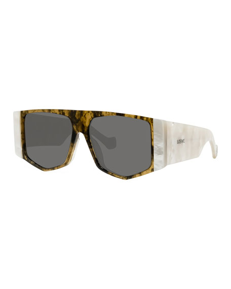 Loewe Two-Tone Acetate Shield Sunglasses