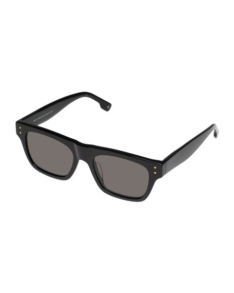 Le Specs Luxe Motif Rectangle Acetate Sunglasses
