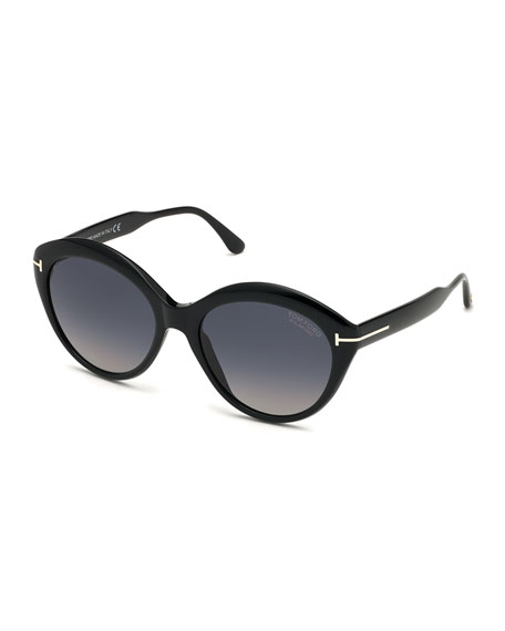 TOM FORD Maxine Round Polarized Sunglasses