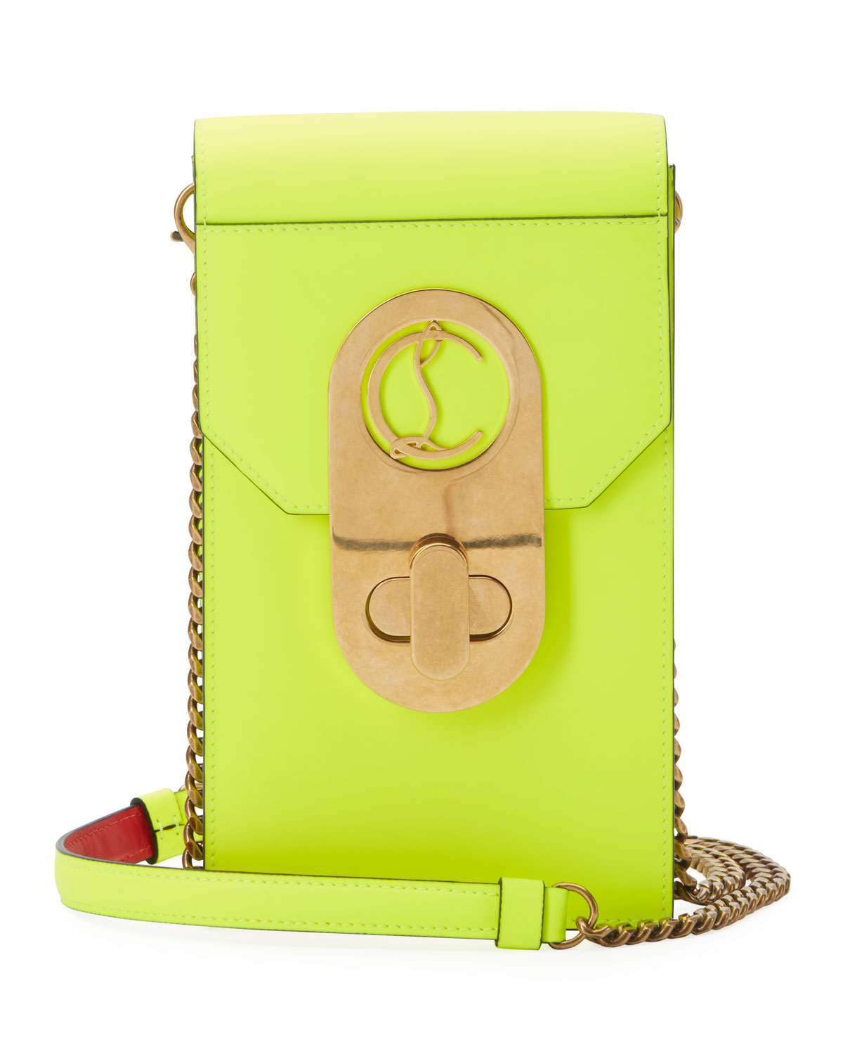 Christian Louboutin Elisa Leather Phone Pouch Case
