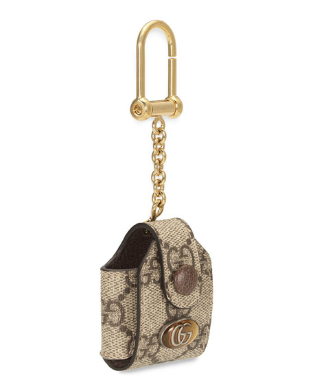 Gucci Ophidia GG Supreme AirPods Keychain Case