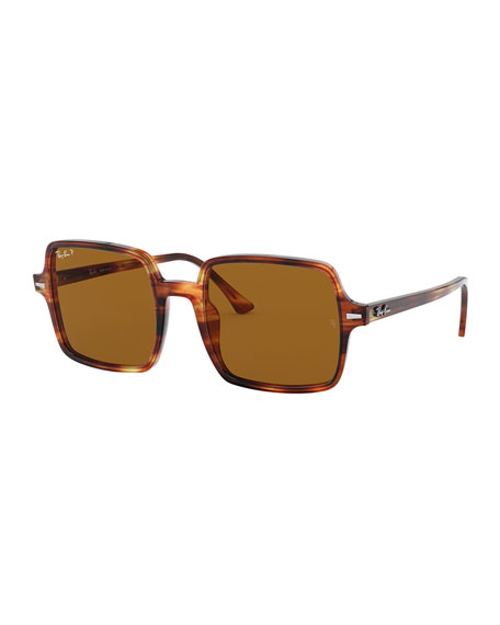 Ray-Ban Square Polarized Acetate Sunglasses