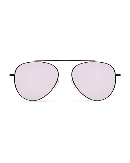 Illesteva Dorchester Mirror Aviator Sunglasses