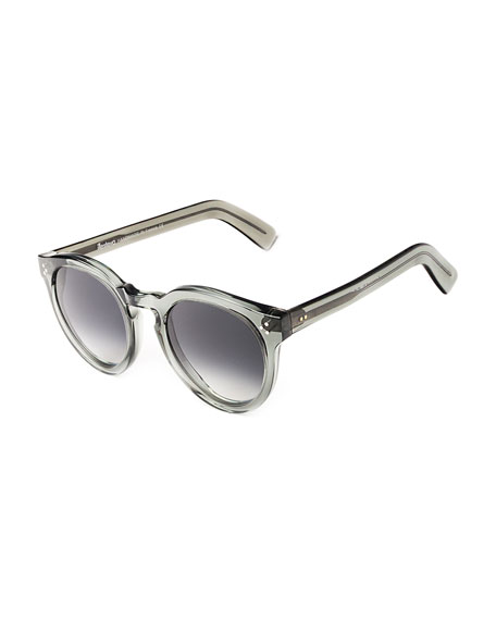 Illesteva Leonard II Round Acetate Sunglasses