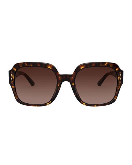 Tory Burch Gradient Square Acetate Sunglasses