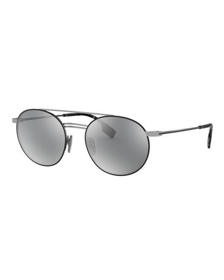 Burberry Round Mirrored Sunglasses