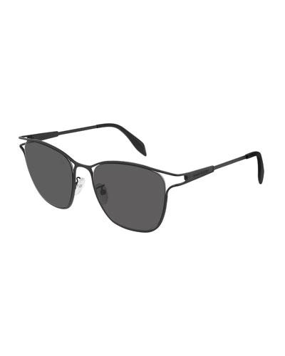 Square Metal Cutout Sunglasses