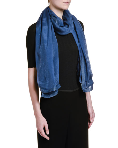 Giorgio Armani Metallic-Woven Silk Scarf