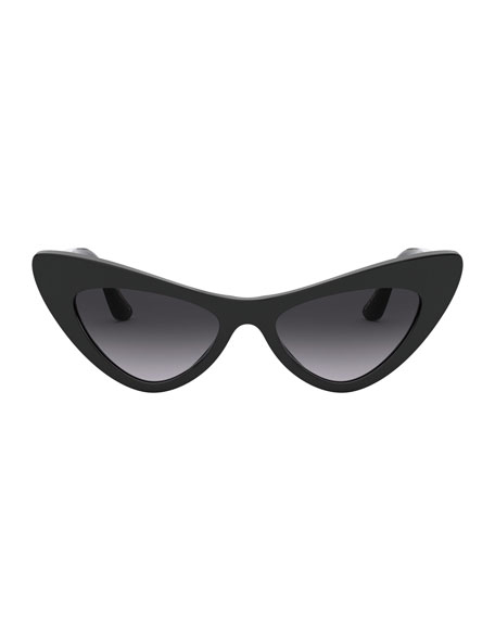 Image 2 of 3: Dolce & Gabbana Acetate Cat-Eye Sunglasses w/ Logo Hardware