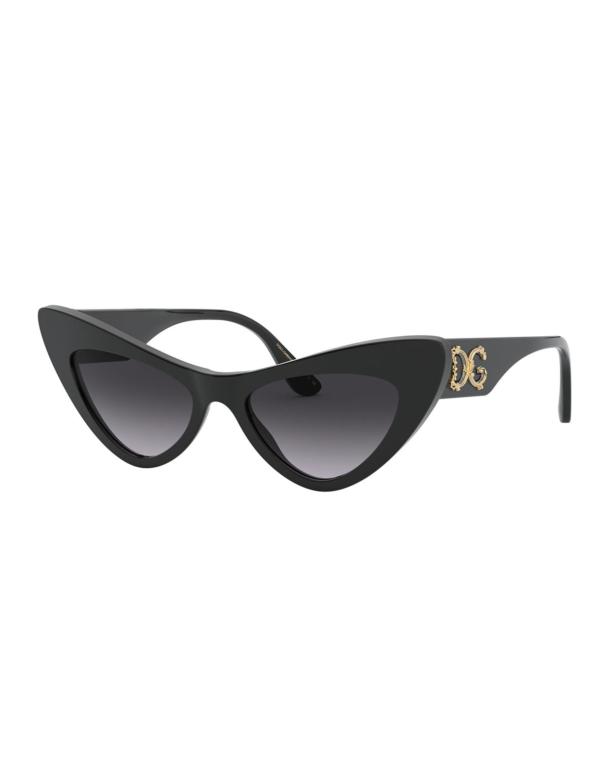 Dolce & Gabbana Acetate Cat-Eye Sunglasses w/ Logo Hardware