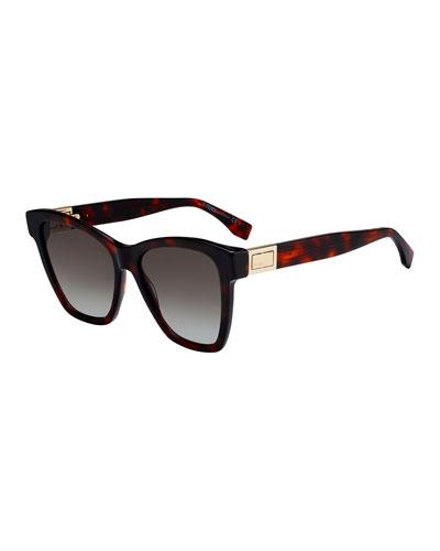 Acetate Gradient Square Sunglasses