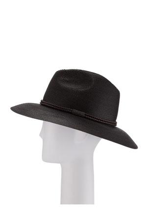 Brunello Cucinelli Rope-Trimmed Fedora Hat