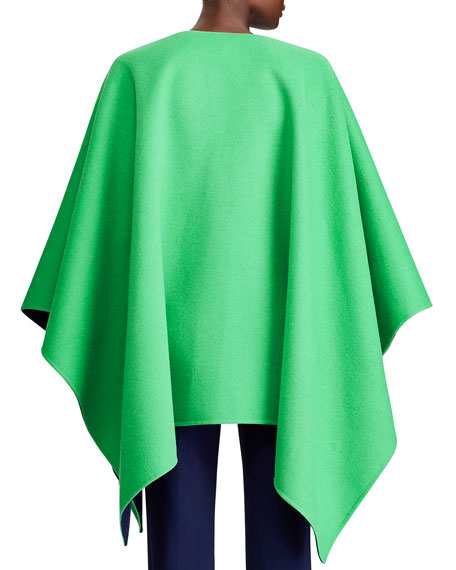 Image 2 of 3: Ralph Lauren Collection Kellin Two-Tone Wool Poncho