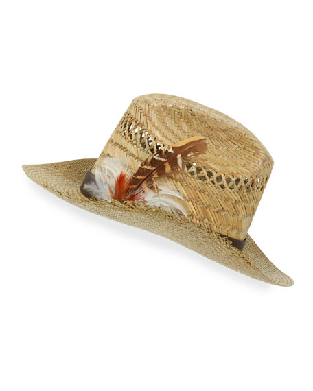 Saint Laurent Kate Panama Toquilla Palm Straw Hat