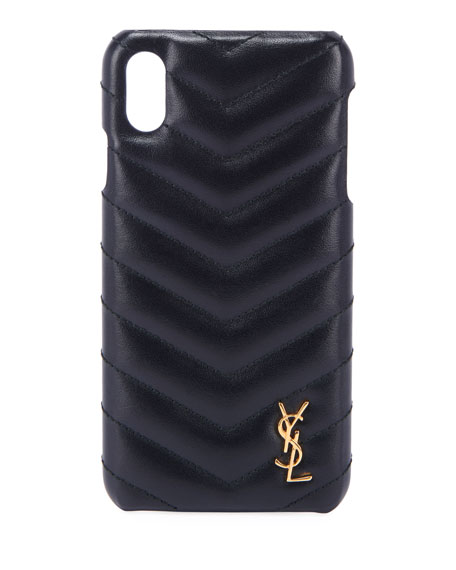 Saint Laurent Cases Monogram iPhone XS Phone Case, Black