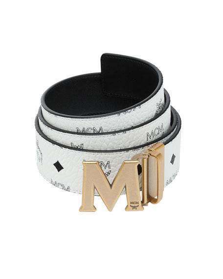 MCM Reversible M-Buckle Belt